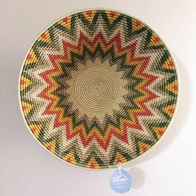 Fair trade Zig Zag Tintsaba Basket - African Wall decor - Ethical...