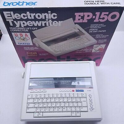 Brother Ep-150 Vintage Electronic Typewriter With Box