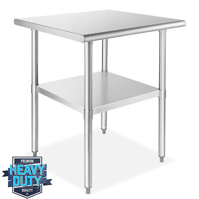 Open Box - Stainless Steel Commercial Kitchen Prep Work Table 30 In. X 30 In.