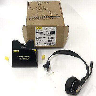 Jabra Engage 75 Wireless Headset w/ Charging Base 9556-583-125 WHB050BS New