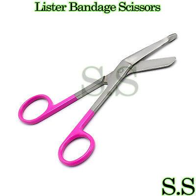 1 Lister Bandage Nurse Scissors - Color Handlesmagenta