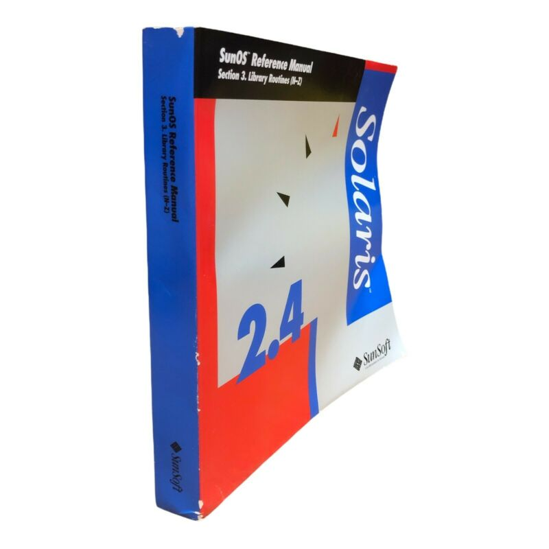 SUNSOFT 2.4 SUNOS SECTION 3 LIBRARY ROUTINES (N-Z) REFERENCE MANUAL