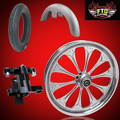 Harley 26 inch Big Wheel Complete Installation Deal, Ride in and Ride out!!
