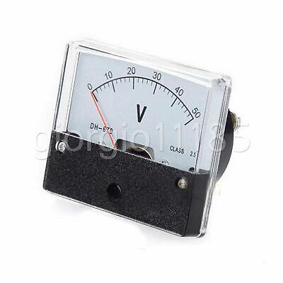 New 0-50v Analog V Volt Voltage Panel Meter