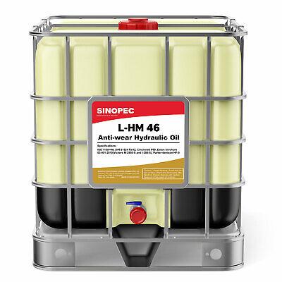 Sinopec Aw 46 Hydraulic Oil Fluid Iso Vg 46 Sae 15 - 275 Gallon Ibc Tote