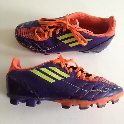 4360d70d8d0 Adidas F50 Youth Soccer Cleats Purple Orange Unisex Youth Size 1.5