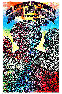 Jimi Hendrix Experience at Electric Factory in Philadelphia Poster 1968  13x19