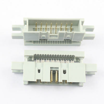 5pcs 2.54mm 2x8 Pin 16 Pin Idc Male Box Header Flat Cable Connector Mounting Ear