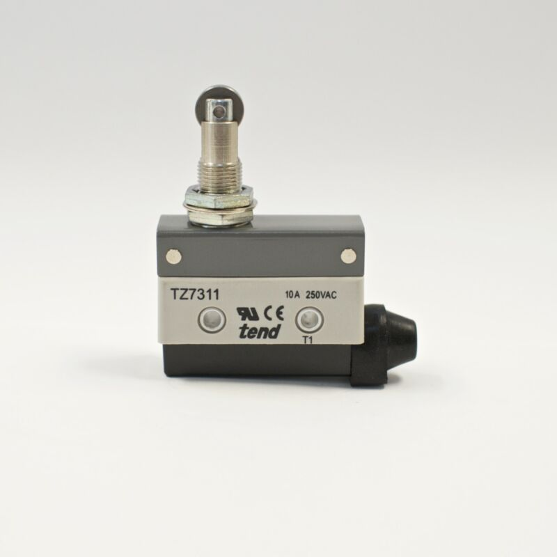 TEND TZ-7311 Horizontal Limit Switch, Panel Mount Roller Plunger, 10A 250VAC