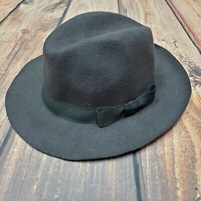 Saks Fifth Ave Mens Fedora Hat Size XL Brown 100% Wool