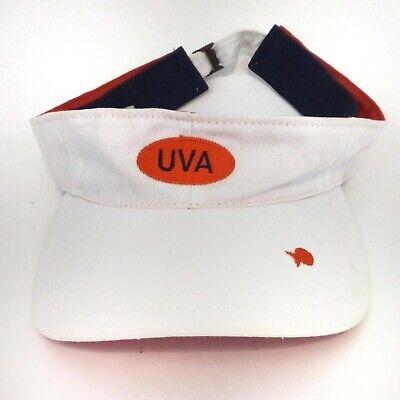 ia UVA Cavaliers Visor Embroidered Strapback Cream Orange (Uva-cavaliers)