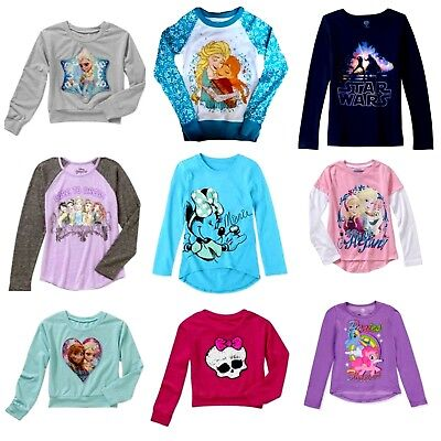 Girls' Tops Monster High My Little Pony Minnie Mouse  Princess Star Wars NWT (Monster High Princess)