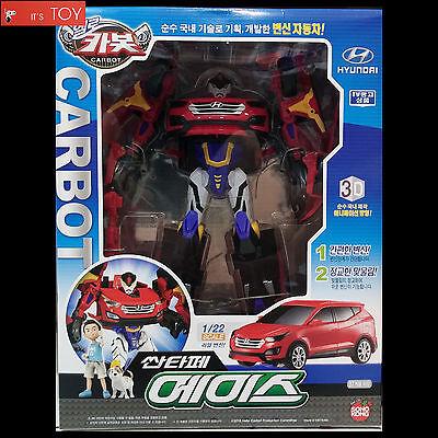 Hello Carbot Santafe Ace Red Transformer Transforming Robot Car Toy Hyundai 1/23
