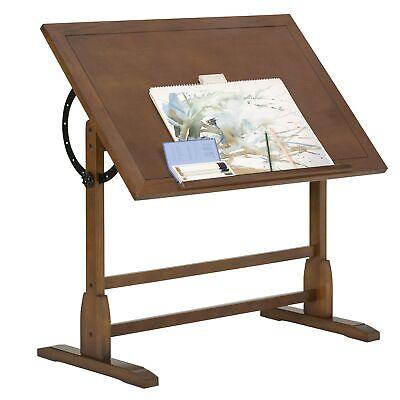 Vintage Rustic Oak Drafting Table Top Adjustable Drafting Table Craft Table ...