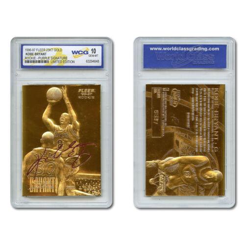 1996-97 Kobe Bryant Fleer 23k Gold Rookie Card Purple Signature Series Gem Mt 10