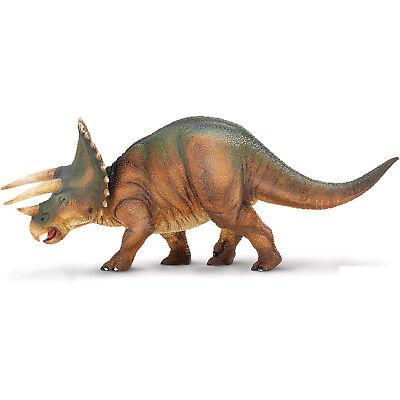 Triceratops Green Brown Dinosaur Figure Safari Ltd NEW Educational Toys Fun - Green Dinosaur