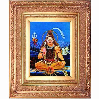 Gold Leaf Frame 10x13in Hindu Shri Shankar #HDL-03-PI-BRENO# Vintage