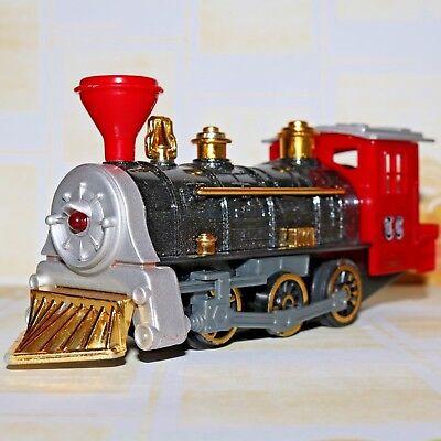 Classic Locomotive Train Engine Pullback Action Wowtoyz Super 7  Red   Black