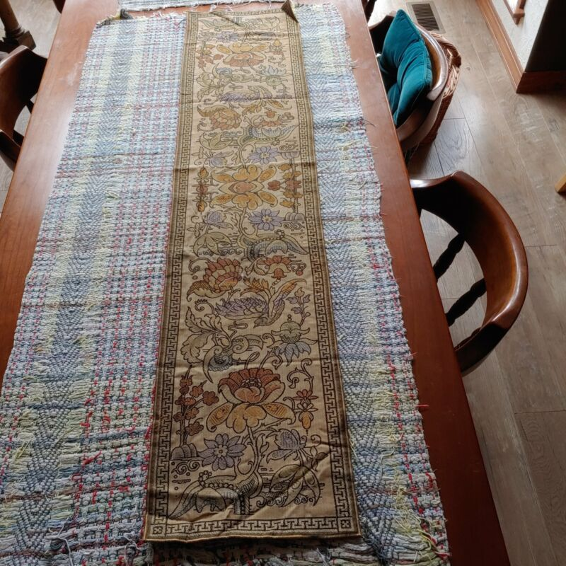 Arts and crafts era tapestry Buffet scarf