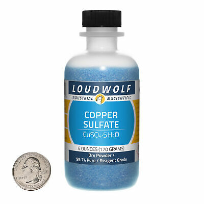 Copper Sulfate 6 Ounce Bottle 99.7 Pure Reagent Grade Dry Powder Usa