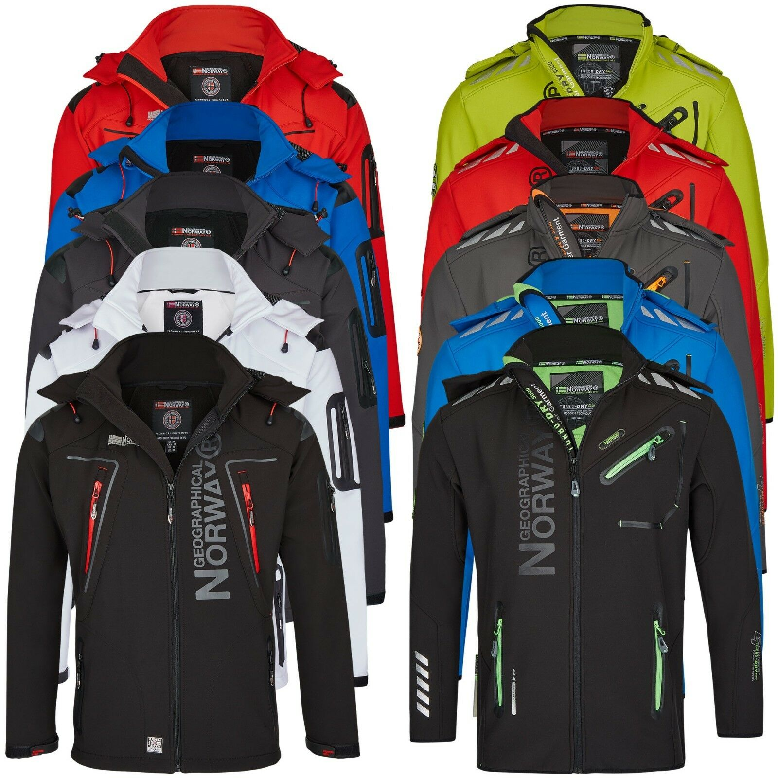 Geographical Norway Herren Softshell Regen Outdoor Jacke Softshelljacke S-XXL