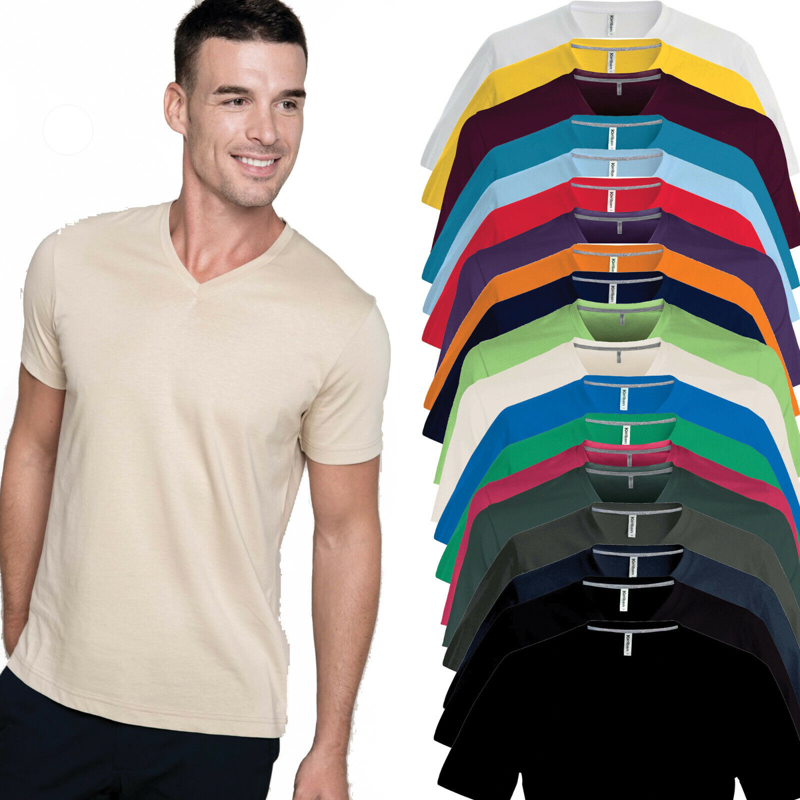 Kariban Short Sleeve Crew Neck T-Shirt