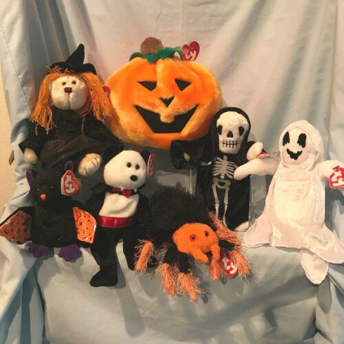 Halloween Beanies & Gourdin Skitters Hagatha Retired Ty 7/Lot 1999 - 2007 $32.99
