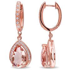 Amour Rose Plated Silver Multi-gemstone Dangle Earrings