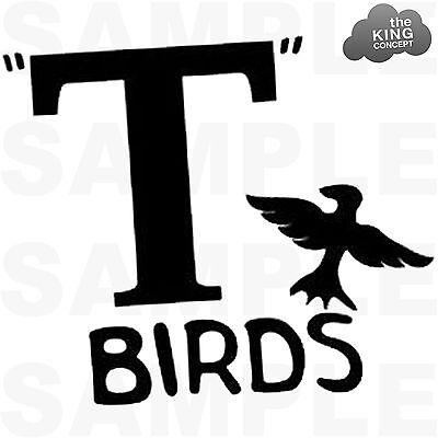 Shirt Transferdruck Fett Jacke T-Bird John Travolta (T-birds Jacken)