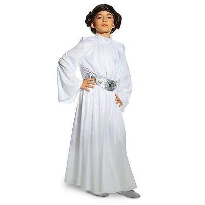 Disney Store Authentic Star Wars 4pc Princess Leia Girls Costume 7/8 - Princess Leia Costum