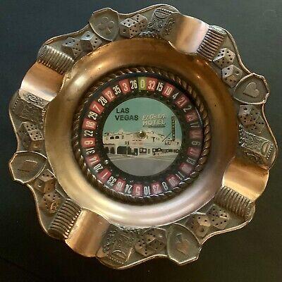 Vintage EL CORTEZ HOTEL Roulette Wheel ASHTRAY Las Vegas NEVADA It Works!!!