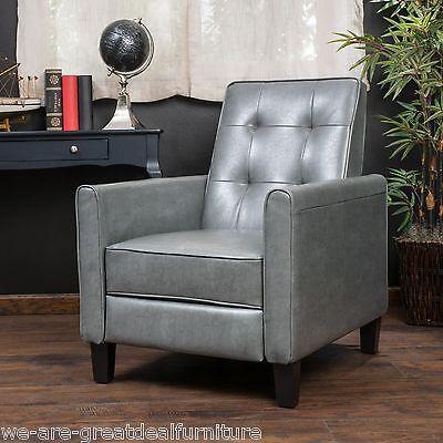 Denise Austin Home Elan Tufted Bonded Leather Recliner Chair