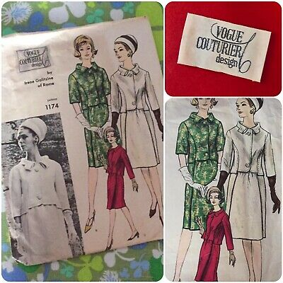1960's Jackie-O Vogue Couturier Design Pattern by Irene Galitzine w/Label. Sz 14