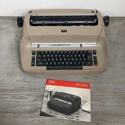 Ibm Selectric Electric Typewriter Tan W Cover - For Parts Or Repair