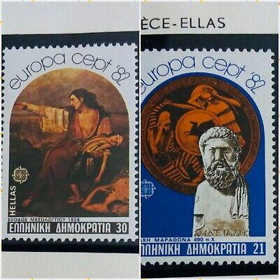2 X Timbre Stamp Grèce Ellas Greece 1982 YT 1459 1460 EUROPA CEPT Neufs