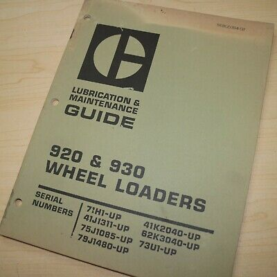 Cat Caterpillar 920 930 Front End Wheel Loader Maintenance Manual Guide Owners