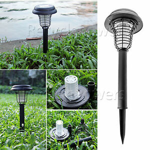 uv solar garden outdoor led light lamp bug zapper pest. Black Bedroom Furniture Sets. Home Design Ideas