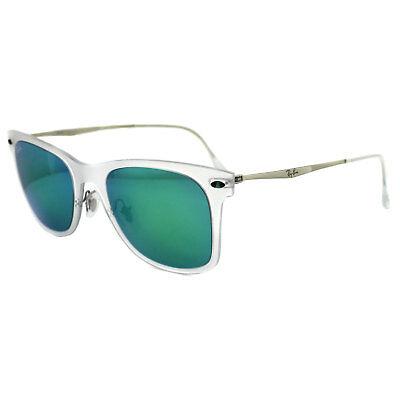 Ray-ban Sonnenbrille Wayfarer Licht Ray 4210 Transparent & Silber Grün Spiegel