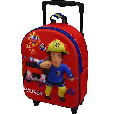 Feuerwehrmann Sam Trolley Rucksack Kindertrolley Koffer Tasche Jungen Rot 8639
