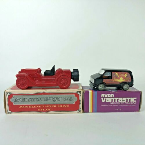 Avon Aftershave Lot Of 2 Vantastic and Stutz Bearcat 1914