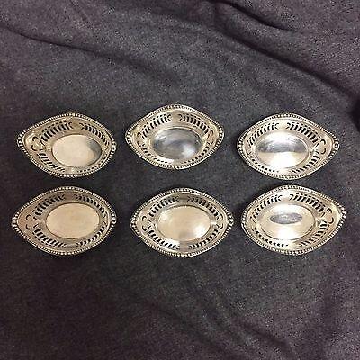 Antique Gorham Sterling Silver Nut Dish-Set of 6-Excellent