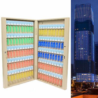 100 Key Hook Cabinet Storage Wall Mount Organizer Safe Hanging Lock Box Cards