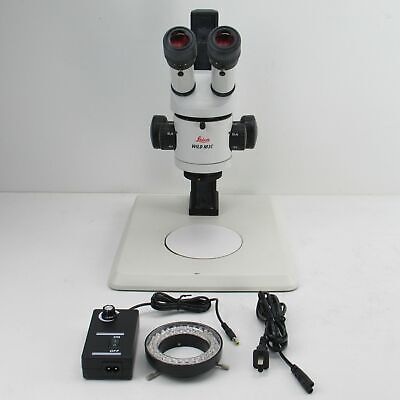 Leica Wild M3c Stereo Microscope W Light Ring 1x Objective 10x Eyepieces