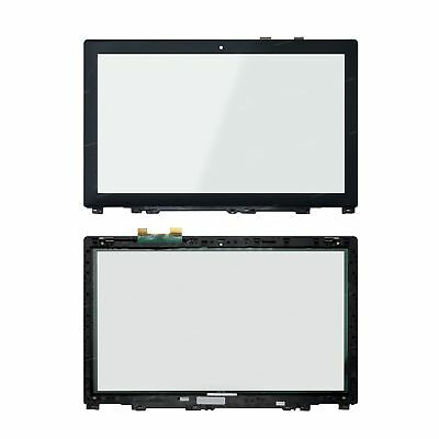 15.6'' Front Glass Touch Screen Digitizer + Bezel For Lenovo IdeaPad U530 20289