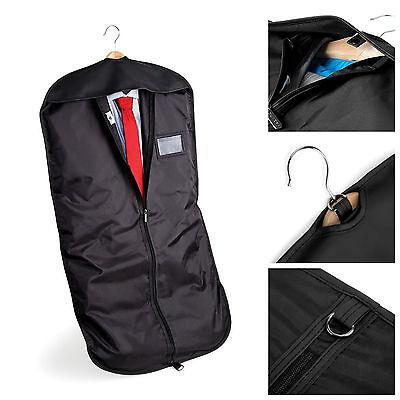 Black Suit Carry Cover Garment Travel Storage Protector Bag Holder Carrier