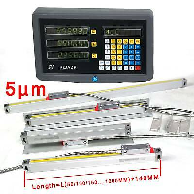 3 Axis Digital Readout Precision Linear Glass Scale Dro Display Kit Milling Edm