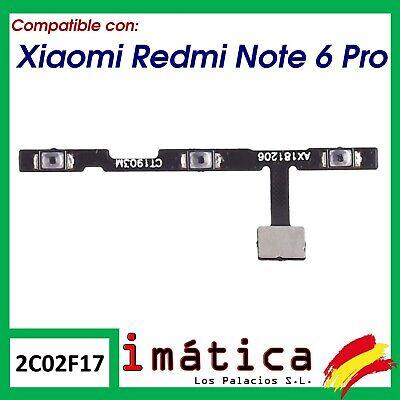 BOTON DE ENCENDIDO Y VOLUMEN PARA XIAOMI REDMI NOTE 6 PRO POWER...