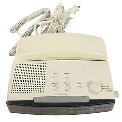 GE Model 2-9710A 12 Number Memory FM/AM Clock Radio Telephone Alarm Combo LCD