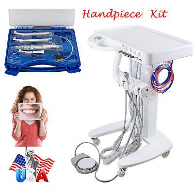 Us Dental Delivery Unit Mobile Cart Case 4 Hole Syringe High Low Handpiece Kit