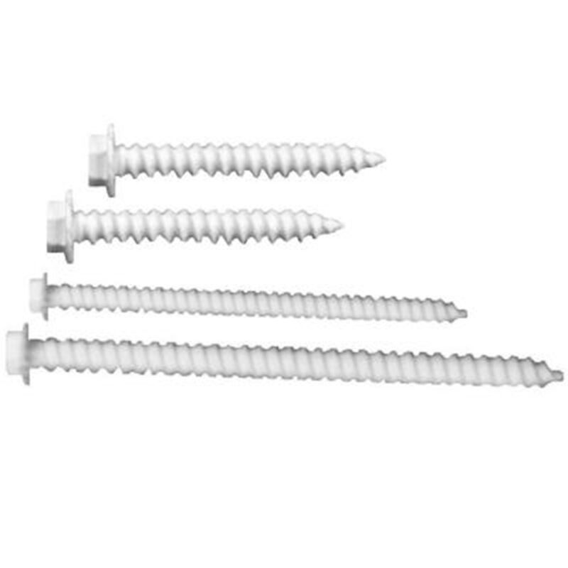 Patio Enclosure Screen Wall - Fasteners Only Kit - White